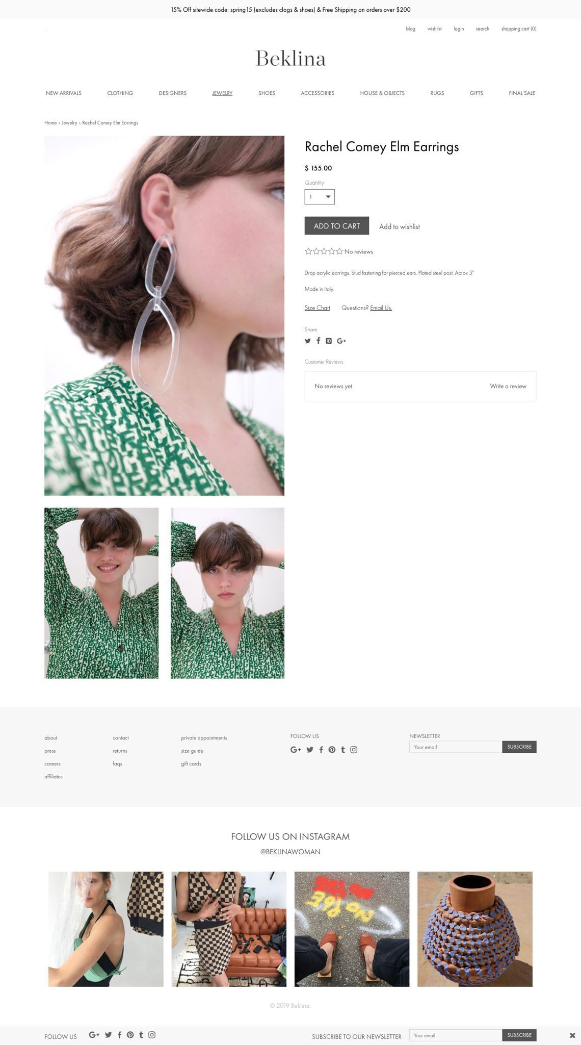 Beklina Product Page