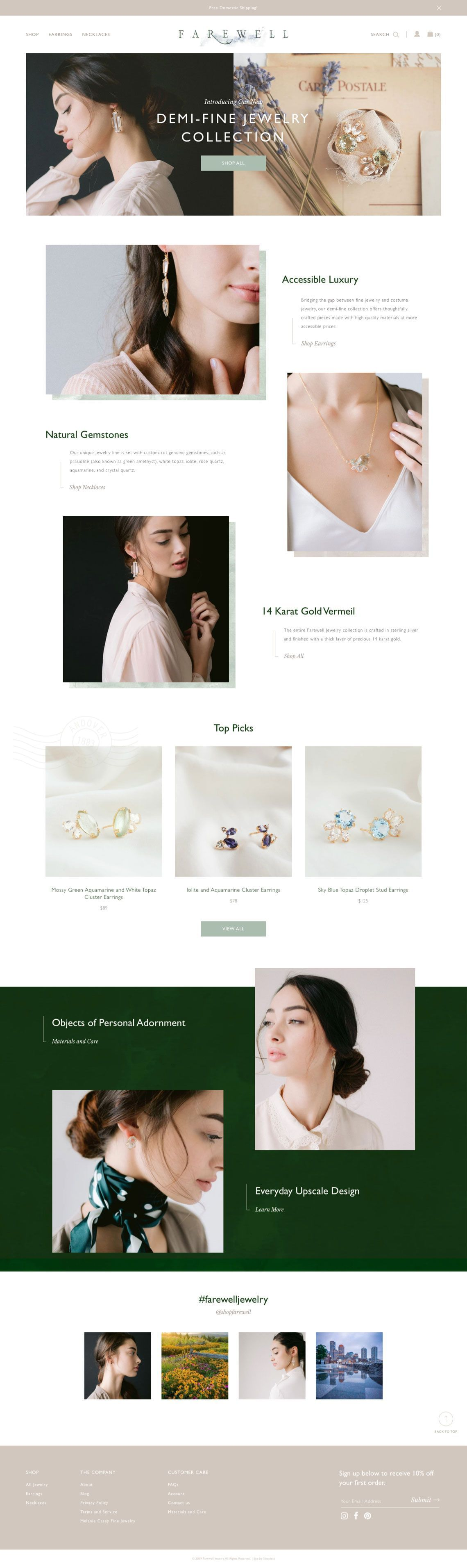 Farewell Jewelry - Homepage