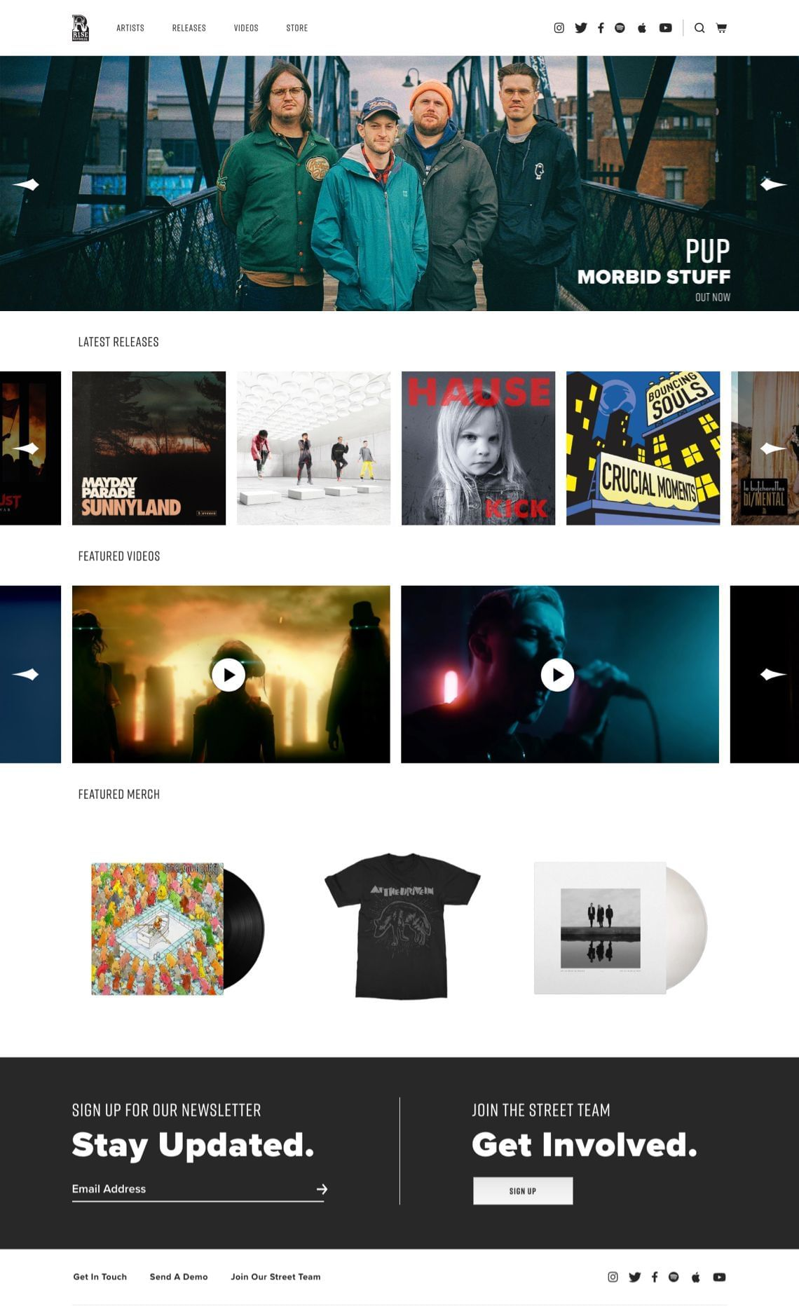 Rise Records Homepage