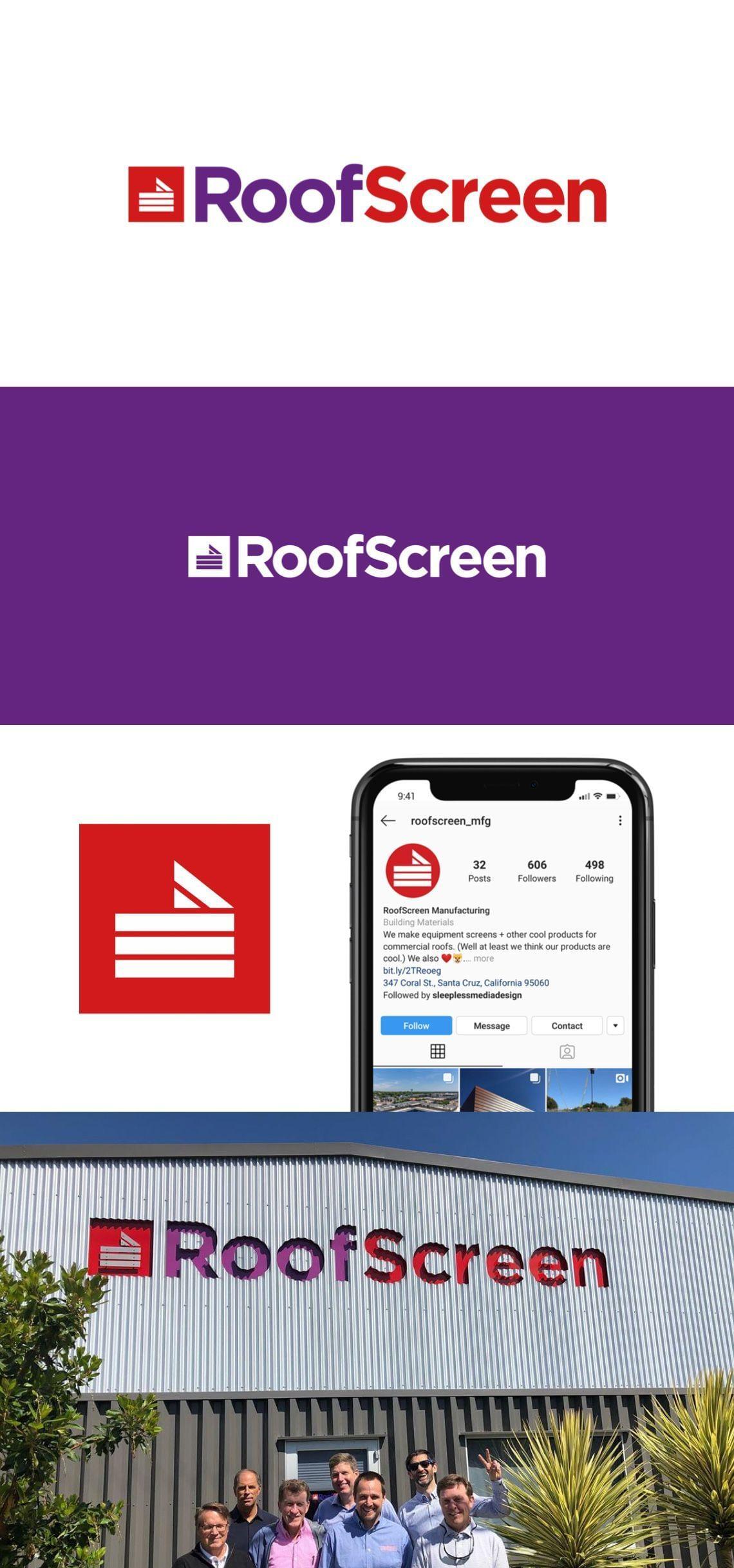 RoofScreen Logo Design