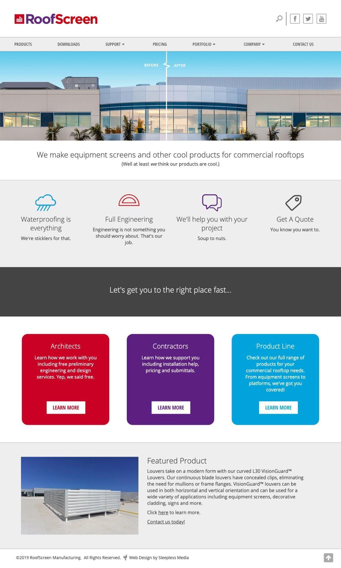 RoofScreen Website