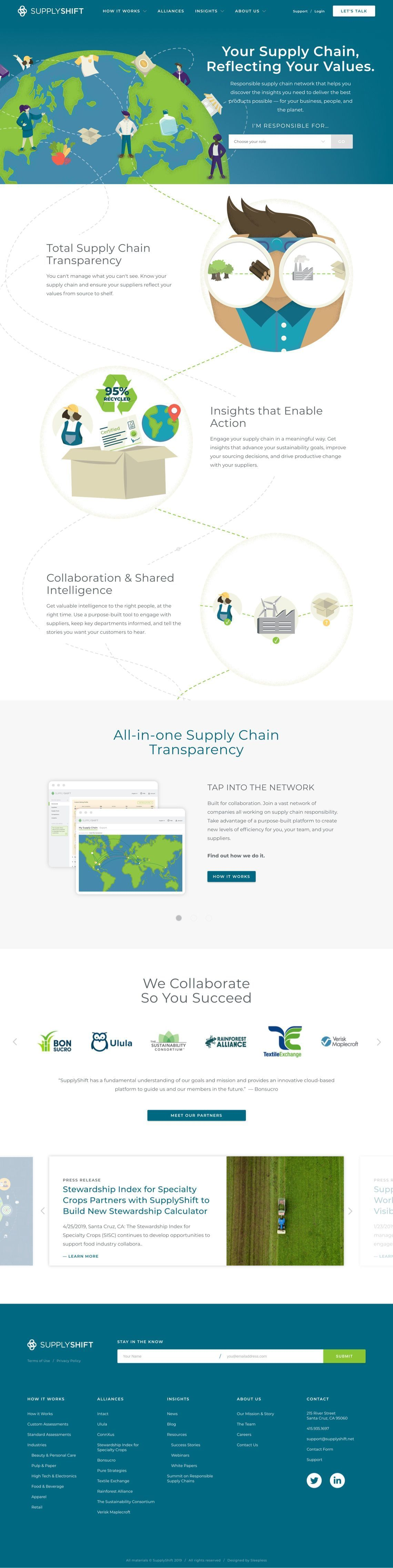 SupplyShift - Homepage