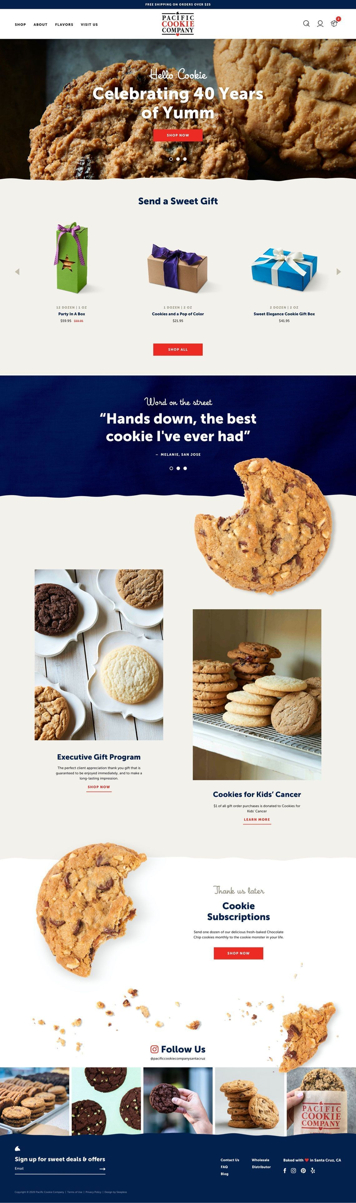 Pacific Cookie Company Homepage