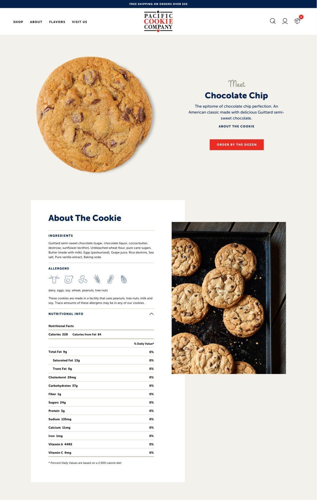 Pacific Cookie Company - Cookie Profiles
