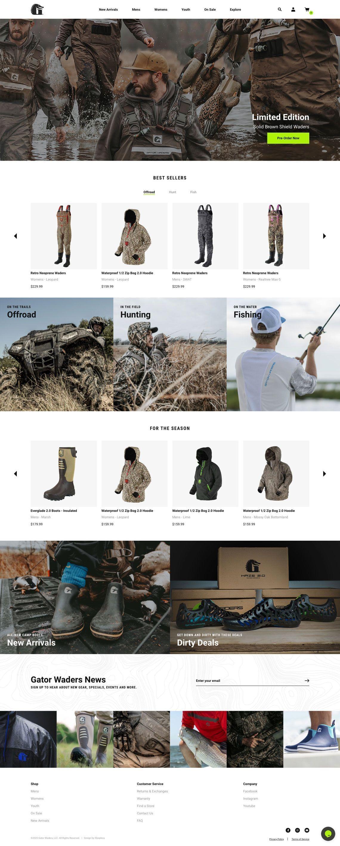 Gator Waders - Homepage