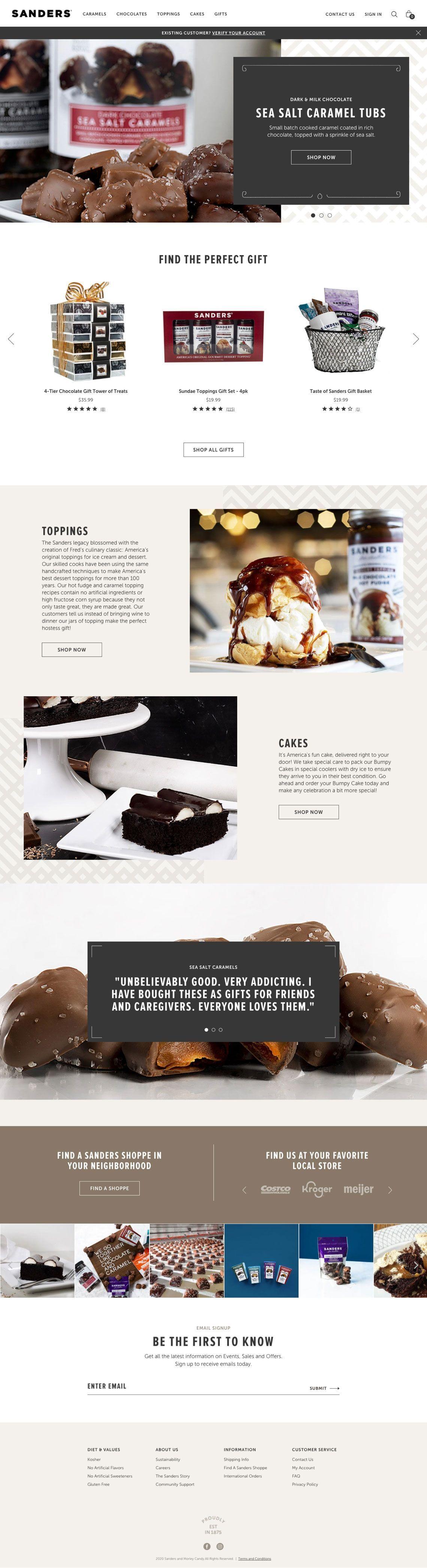 Sanders Candy - Homepage