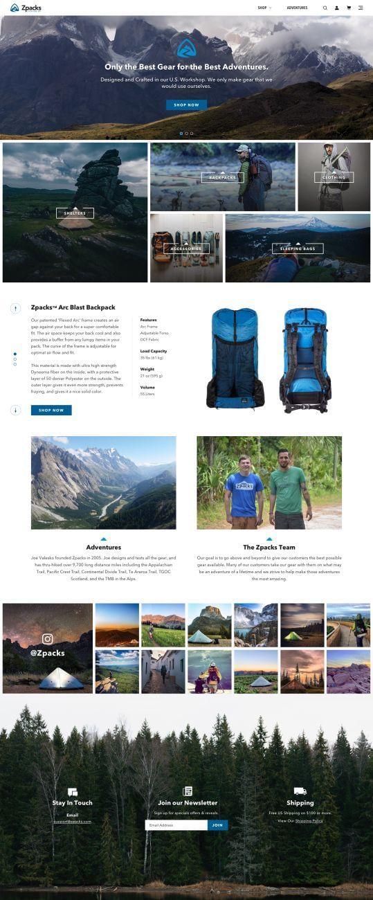 Zpacks Website