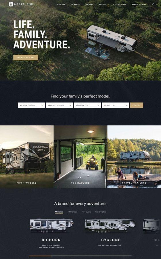 Heartland RV WordPress Web Design