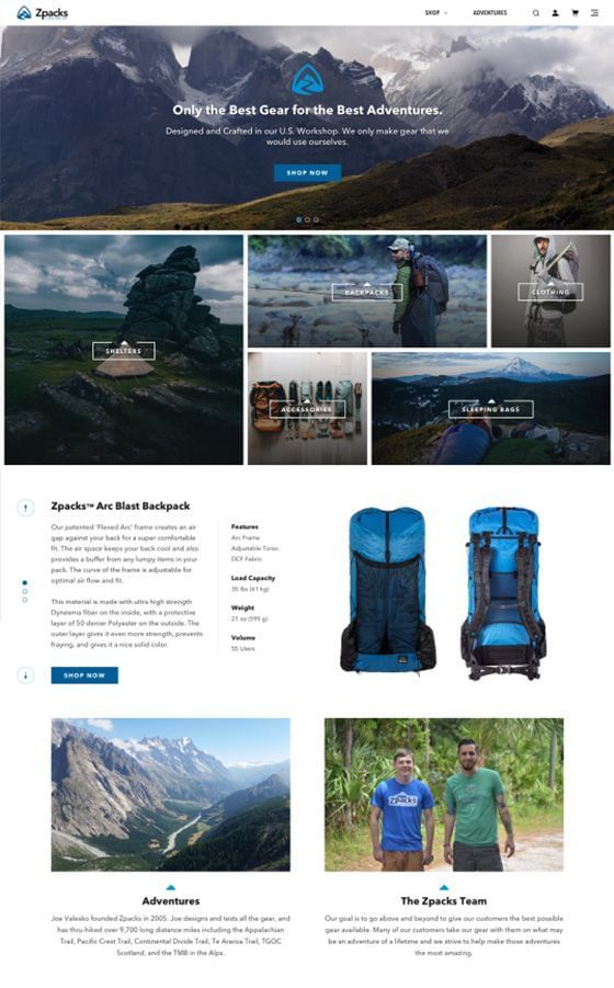 Zpacks Website