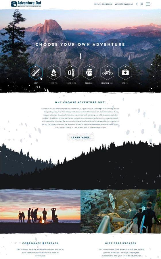 Adventure Out WordPress + Shopify Design