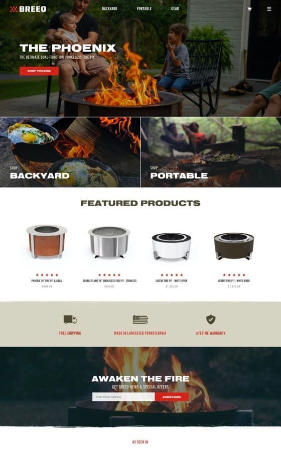 Breeo Firepits Shopify Plus Development