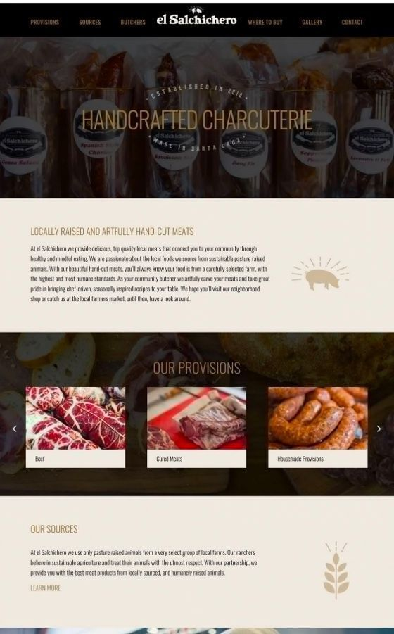 Butcher Shop Website Design and Branding