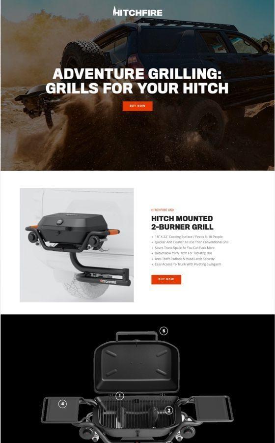 HItchfire Adventure Grilling WordPress Theme