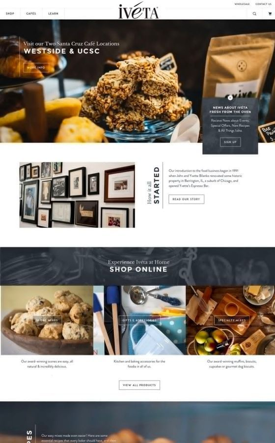 Iveta Gourmet Bakery Shopify Theme