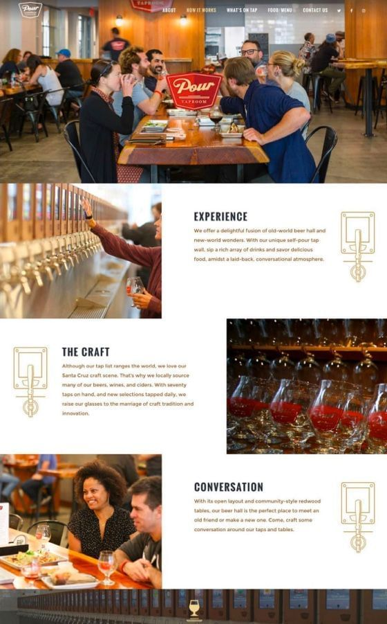 Pour Taproom WordPress Website Design