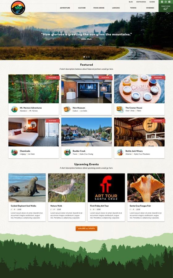 Santa Cruz Mountains Outdoor Guide WordPress Theme