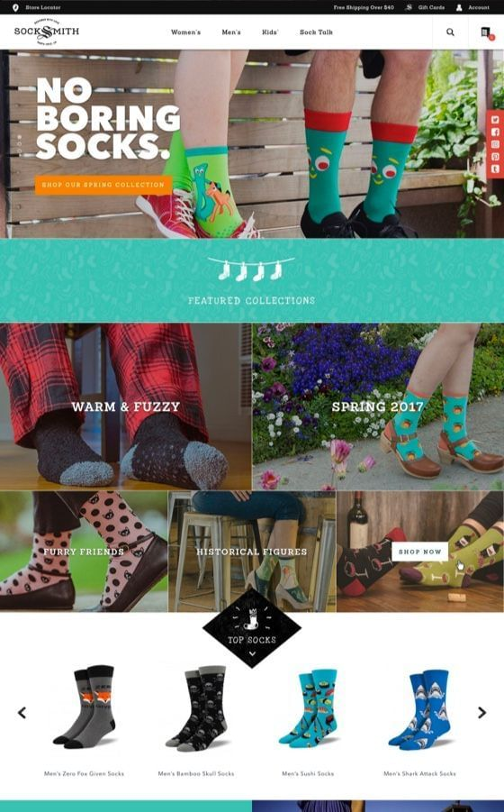 Socksmith Shopify Plus Web Development