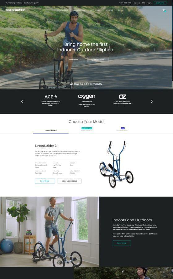 StreetStrider - Shopify Plus Design and Development