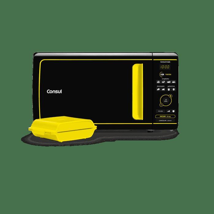 Micro-ondas preto e amarelo CME20