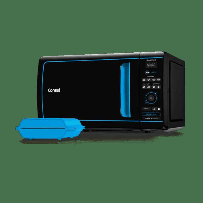 Micro-ondas preto e azul CME20