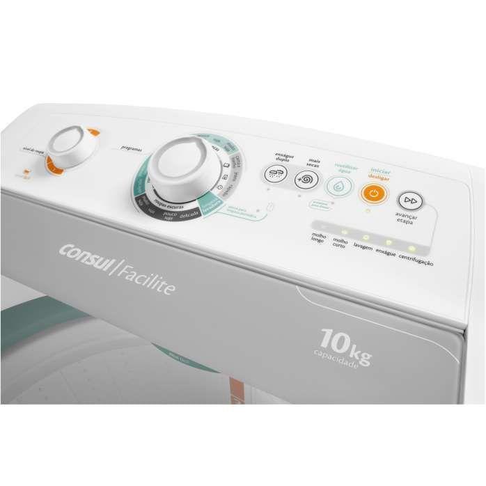 Painel de lavadora de roupas branca CWC10