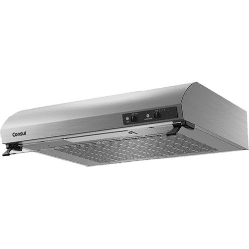 Depurador de Ar Consul 60 cm inox 4 bocas silencioso com filtro lavável