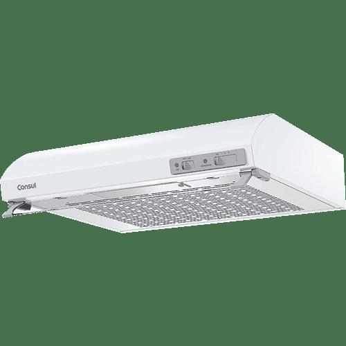 Depurador de Ar Consul 80 cm branco 5 e 6 bocas silencioso com filtro lavável