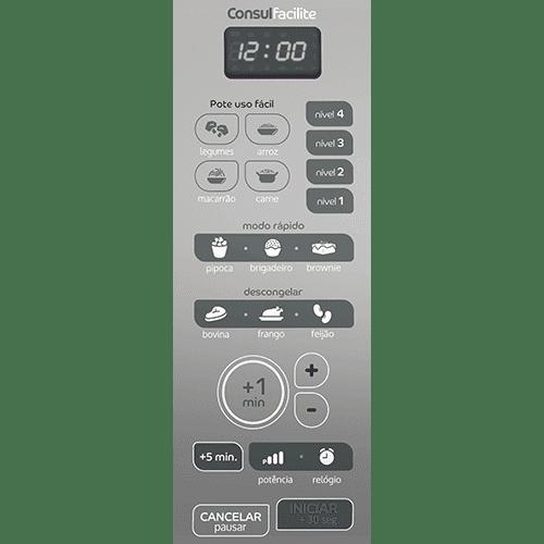 Painel de micro-ondas branco CMD20