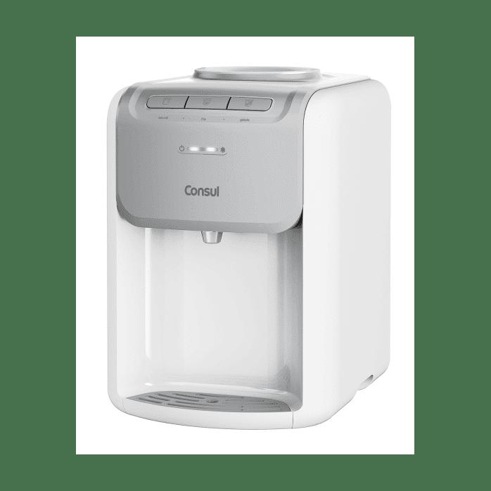 Bebedouro de Água Gelada Branco Consul - Bebedouro Refrigerado CJD20AB - Painel de Botões