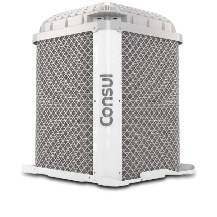 Ar condicionado branco CBN unidade externa