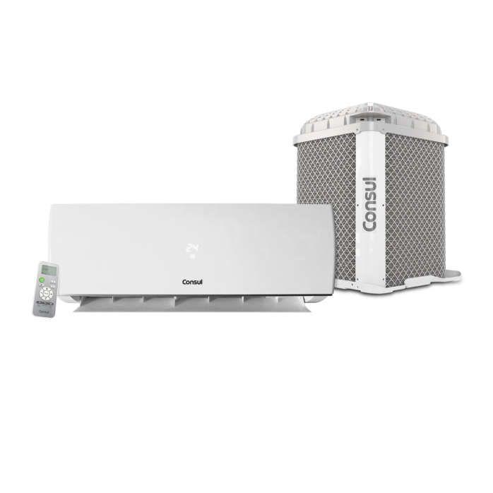 Ar condicionado branco CBN unidades externa e interna