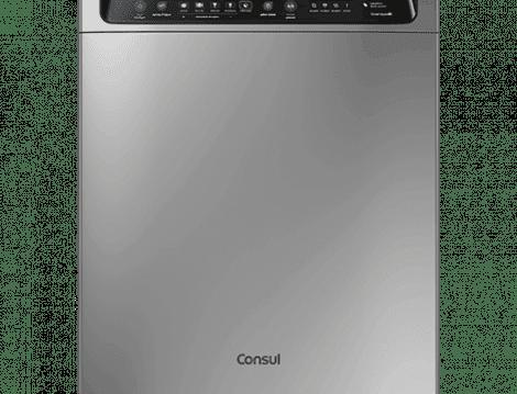 Lava-louças: 12 serviços inox CLF12AS - Consul