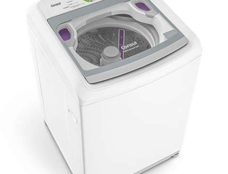 Máquina de Lavar 15kg Branca - Lavadora de Roupas 15kg Consul CWE15AB - Vista Panorâmica