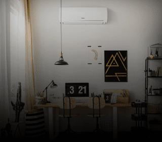Uma sala com ar-condicionado