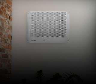 ar-condicionado janela instalado.