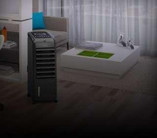 Ar-condicionado portátil na sala de estar