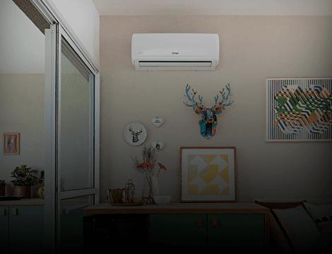 Ar-condicionado Split instalado na parede