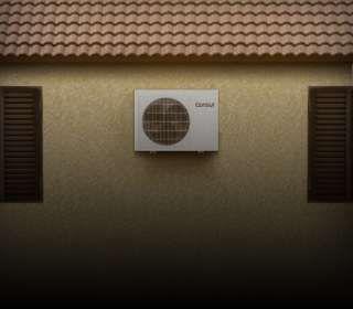 Ar-condicionado instalado na parede