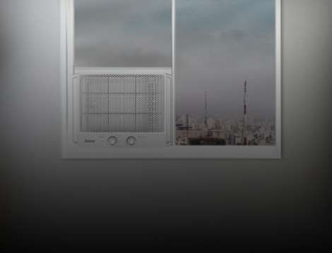 Ar-condicionado instalado na janela