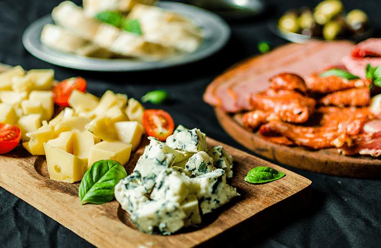 tábua de frios queijos