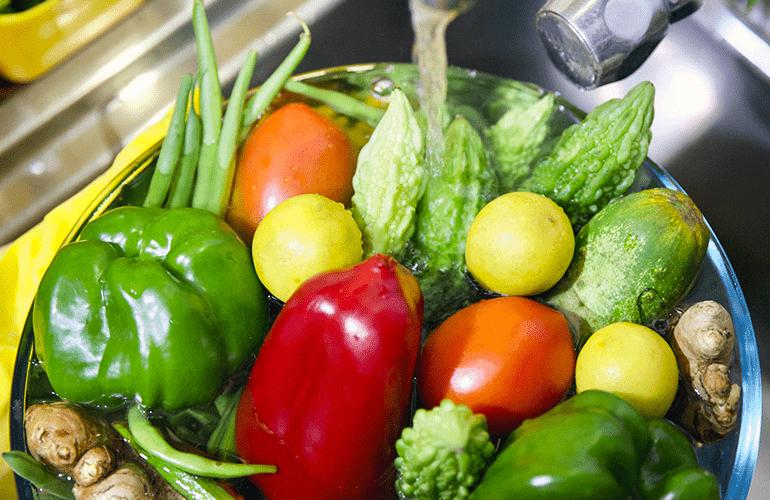 desinfetar frutas com detergente