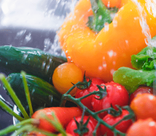 higienizar frutas e verduras