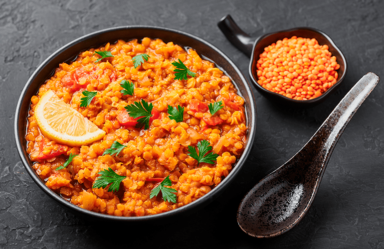 receita de lentilha