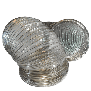 "Wire Reinforced Mylar Flex Ducting 20"" x 25'"