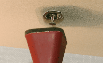 Covering a sprinkler head