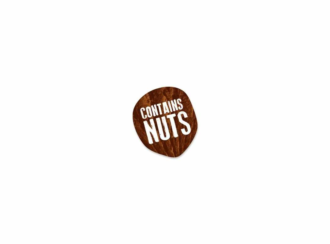 NUT003 - Contains Nuts Roll Sticker