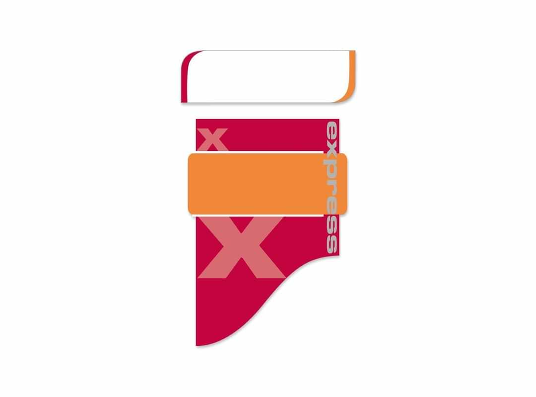 EXP001 - Express Red Small 8 p/s Label