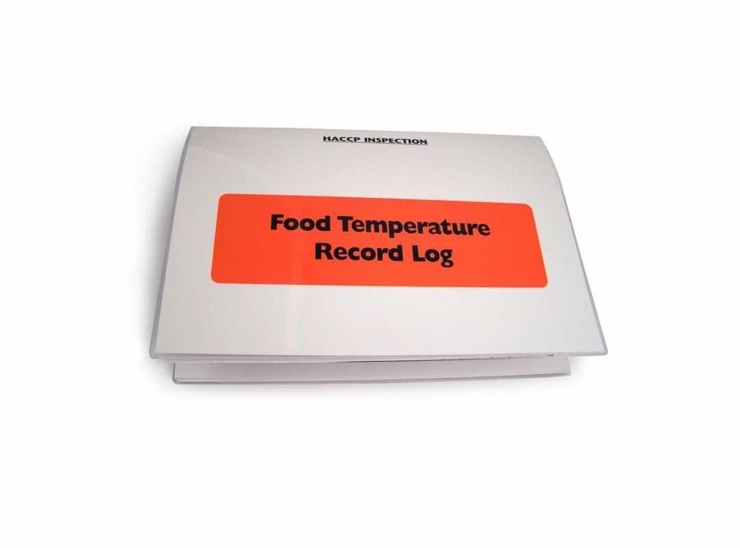 HAC003 - Food Temp. Record Log - Red