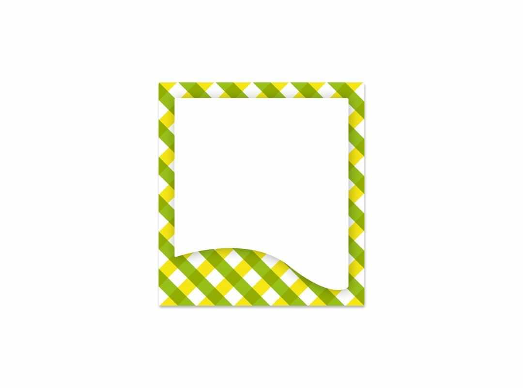 GIN001 - Gingham Green 12 p/s Label
