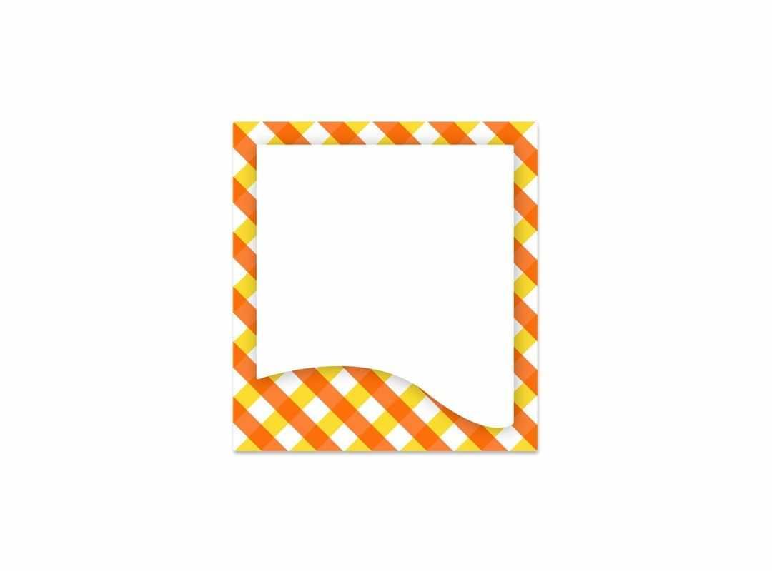 GIN002 - Gingham Orange 12 p/s Label